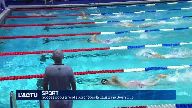 Succès populaire et sportif pour la Lausanne Swim Cup