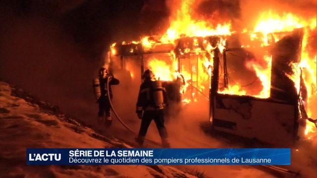 Découvrez le quotidien des pompiers de Lausanne
