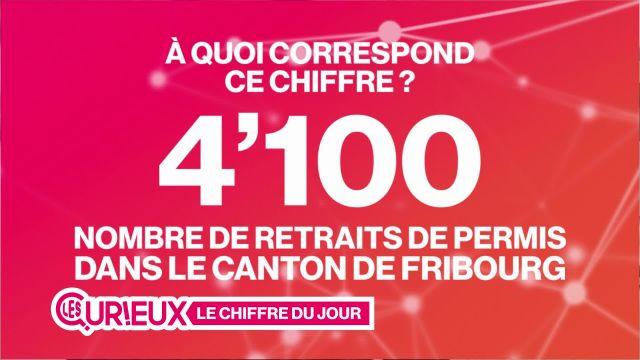 4'100 permis retirés dans le canton de Fribourg en 2016
