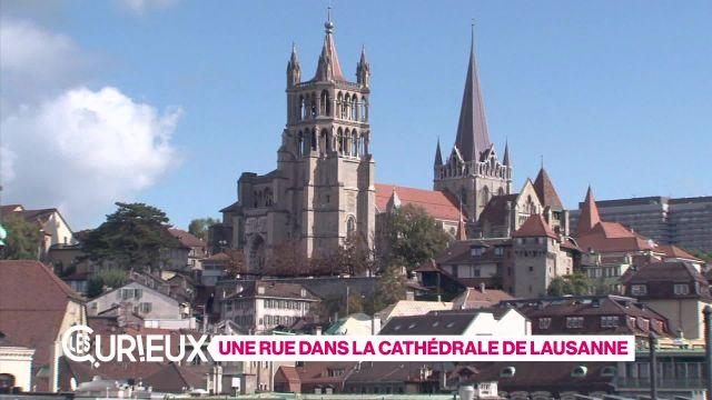 Une rue dans la cathédrale de Lausanne