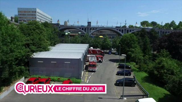 172 véhicules utilisés par les sapeurs-pompiers lausannois