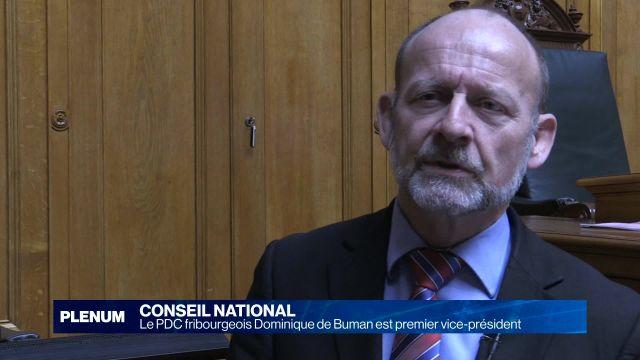 Dominique de Buman est le 1er vice-président du National