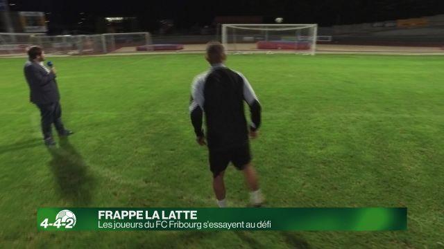 Cette semaine, les joueurs du FC Fribourg frappent la latte