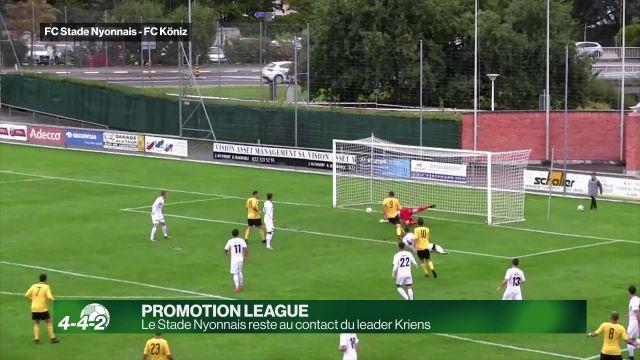 Le Stade Nyonnais reste au contact du leader Kriens