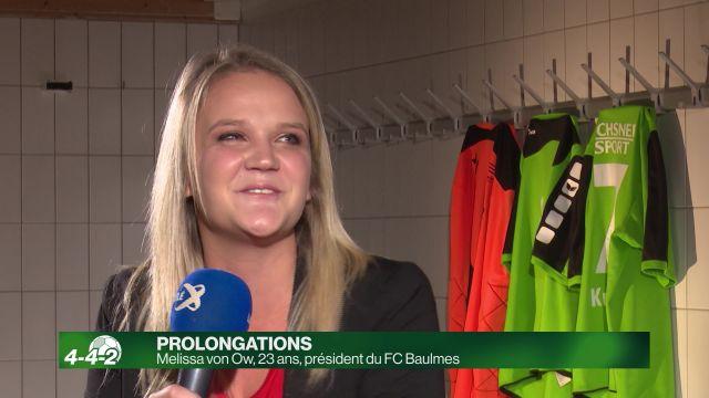 Melissa von Ow, présidente du FC Baulmes à 23 ans.