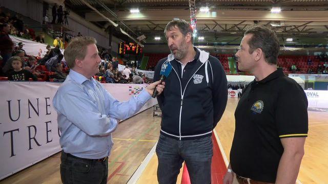 SBL CUP, demi-finale Fribourg-Lugano, la mi-match
