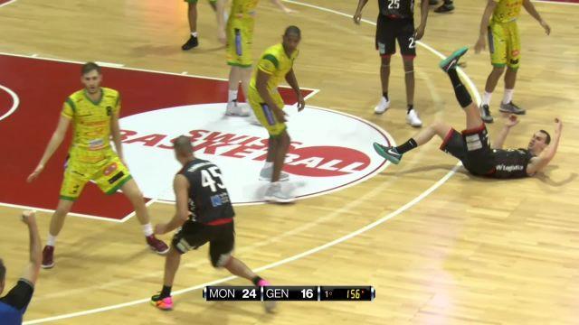 SBL CUP, demi-finale Monthey-Genève, la première mi-temps