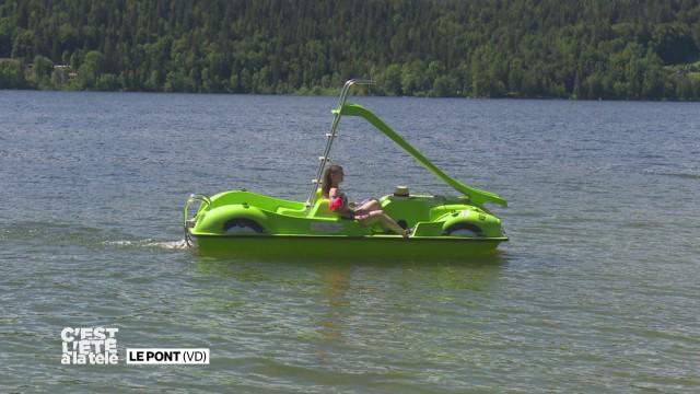 Céline nous fait découvrir le lac de Joux