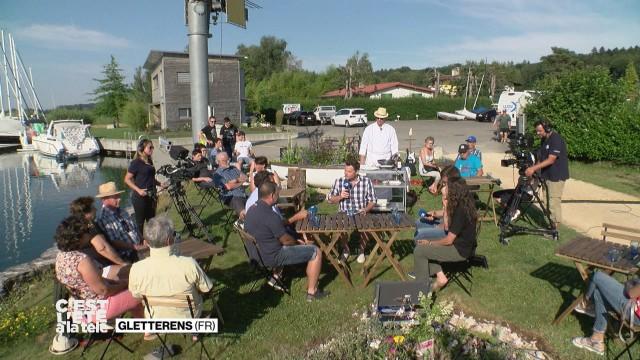 Gletterens accueille C'est l'été à La Télé.