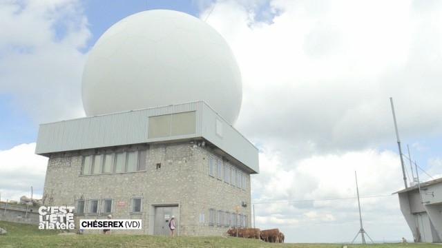Stefane découvre l'observatoire de La Dôle