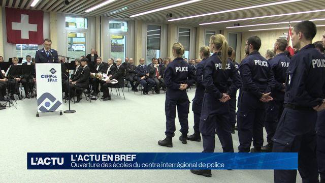 Ouverture des écoles du centre interrégional de police