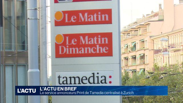 Le service annonceurs Print de Tamedia centralisé à Zurich