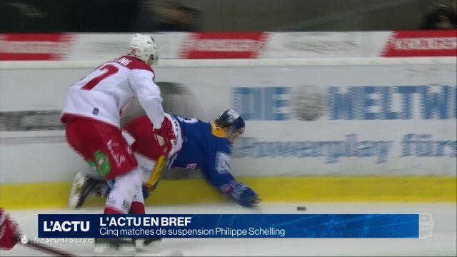 Cinq matches de suspension Philippe Schelling