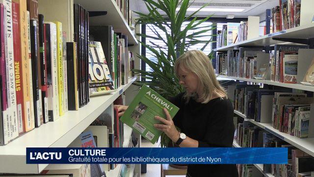 Gratuité totale pour les bibliothèques du district de Nyon