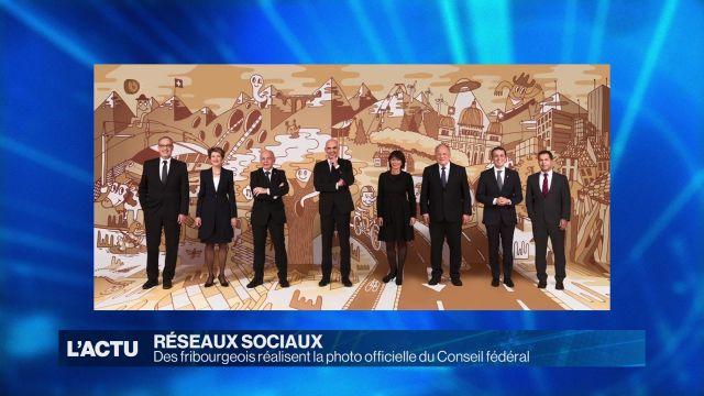 Des Fribourgeois réalisent la photo 2018 du Conseil fédéral
