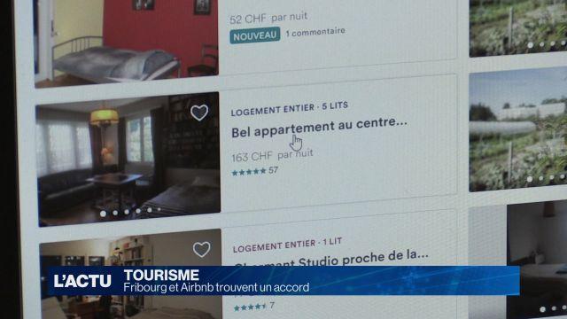 Fribourg et Airbnb trouvent un accord
