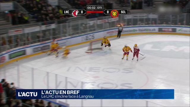 Le LHC s'incline 1-0 face à Langnau