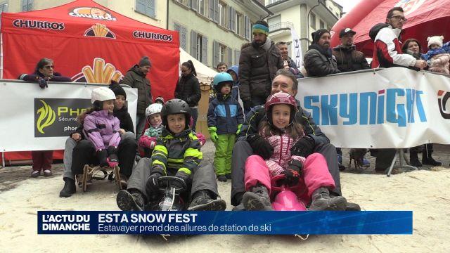 Estavayer-le-Lac transformée en station de ski