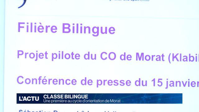 Une classe bilingue au CO de Morat