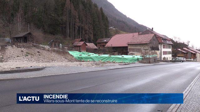 Villars-sous-Mont une année après l'incendie