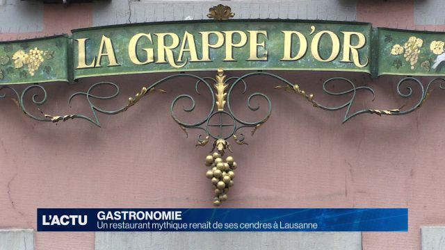 Un restaurant mythique renaît de ses cendres à Lausanne
