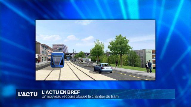 Un nouveau recours bloque le chantier du tram à Lausanne