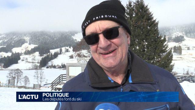 Les députés font du ski
