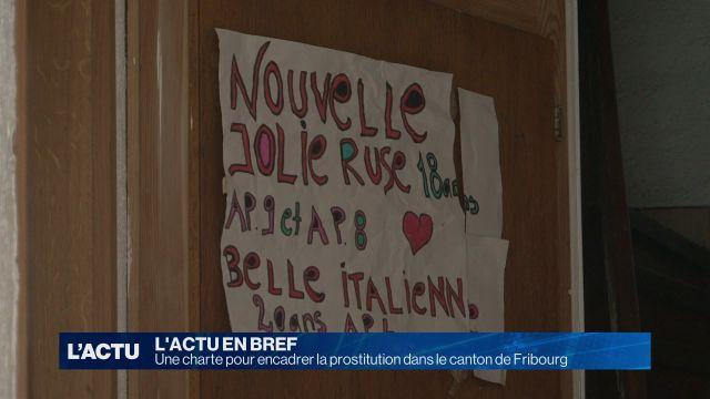 Une charte pour encadrer la prostitution à Fribourg