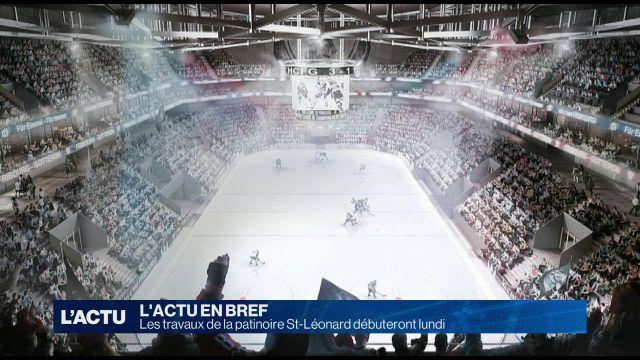 Les travaux de la patinoire St-Léonard débuteront lundi