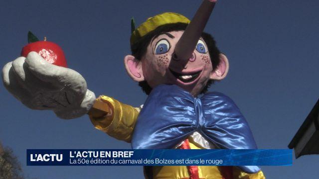 La 50e édition du carnaval des Bolzes est dans le rouge