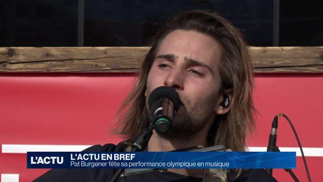 Pat Burgener fête sa performance olympique en musique