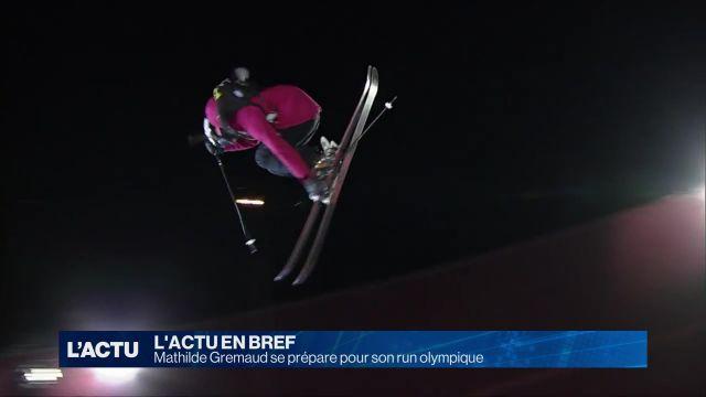 Mathilde Gremaud se prépare pour son run olympique