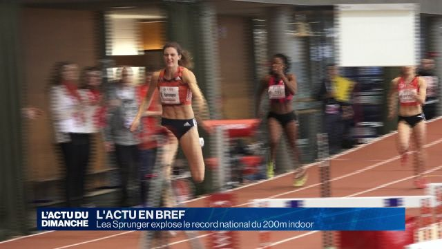 Lea Sprunger explose le record national du 200m indoor