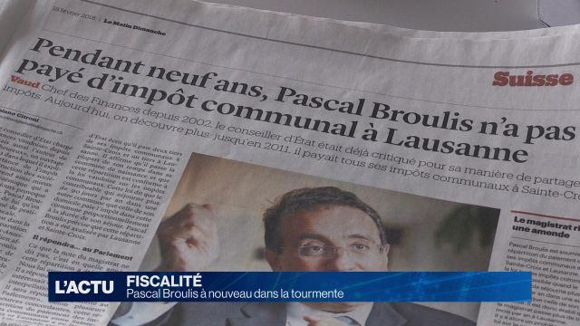 Pascal Broulis à nouveau dans la tourmente