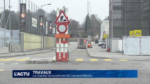 Début du chantier à St-Léonard