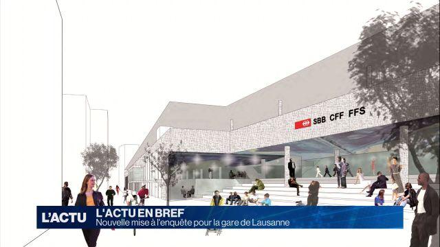 Nouvelle mise à l'enquête pour la gare de Lausanne