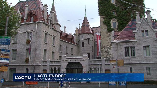 Lausanne : record historique des nuitées