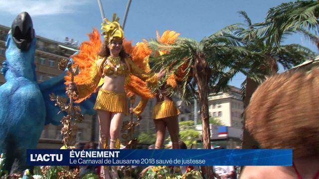 Le Carnaval de Lausanne 2018 sauvé de justesse
