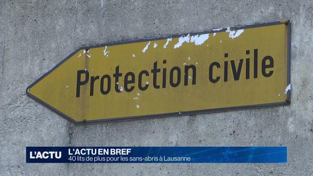 40 lits de plus pour les sans-abris à Lausanne