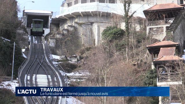 Le funiculaire de Fribourg fermé jusqu'à nouvel avis