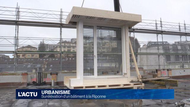 Un bâtiment administratif réhaussé à Lausanne