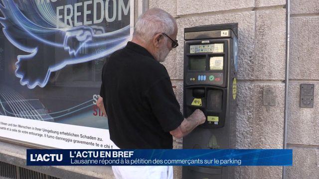 Lausanne répond à la pétition des commerçants sur le parking