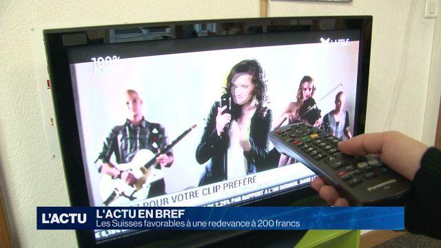 Une redevance radio-Tv à 200 francs séduit