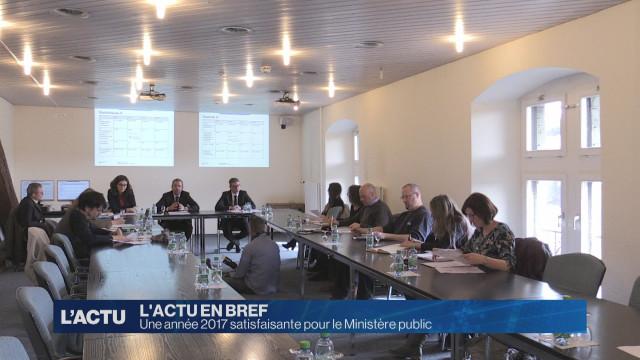 Le Ministère public fribourgeois est satisfait de 2017