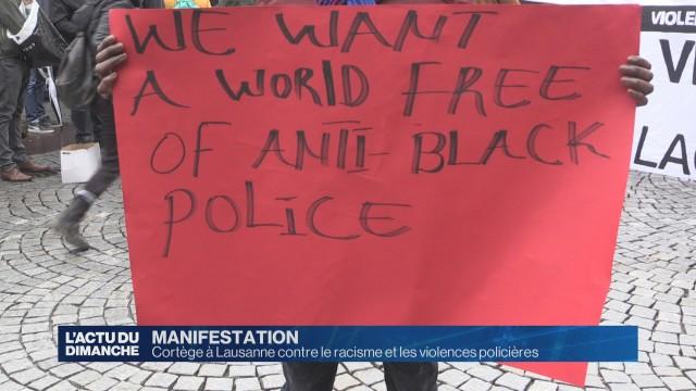 Manifestation contre les violences policières à Lausanne