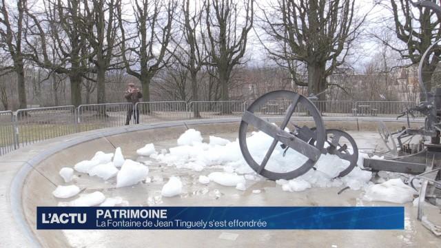 La fontaine de Jean Tinguely s'est effondrée
