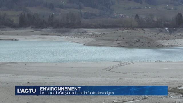 Le Lac de la Gruyère au plus bas.