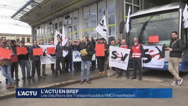Manifestation des chauffeurs  des Transports publics VMCV