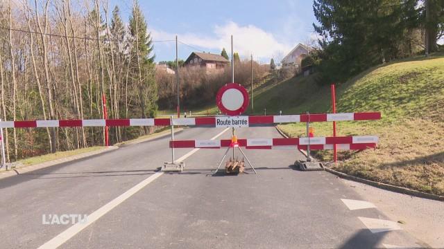 Des rochers menacent la route Rossens-Treyvaux