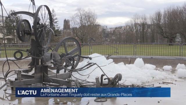 La Fontaine à Tinguely doit rester aux Grands-Places.